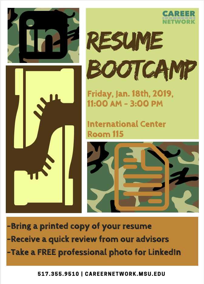 Resume Bootcamp Flyer