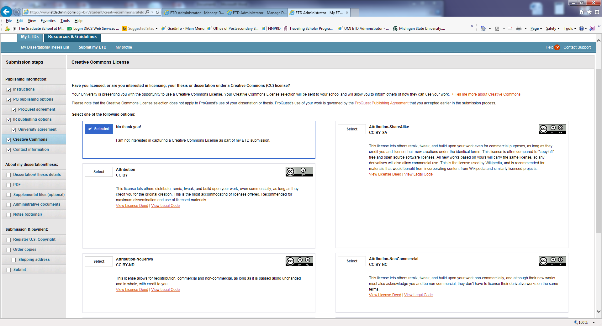 ProQuest site example 1