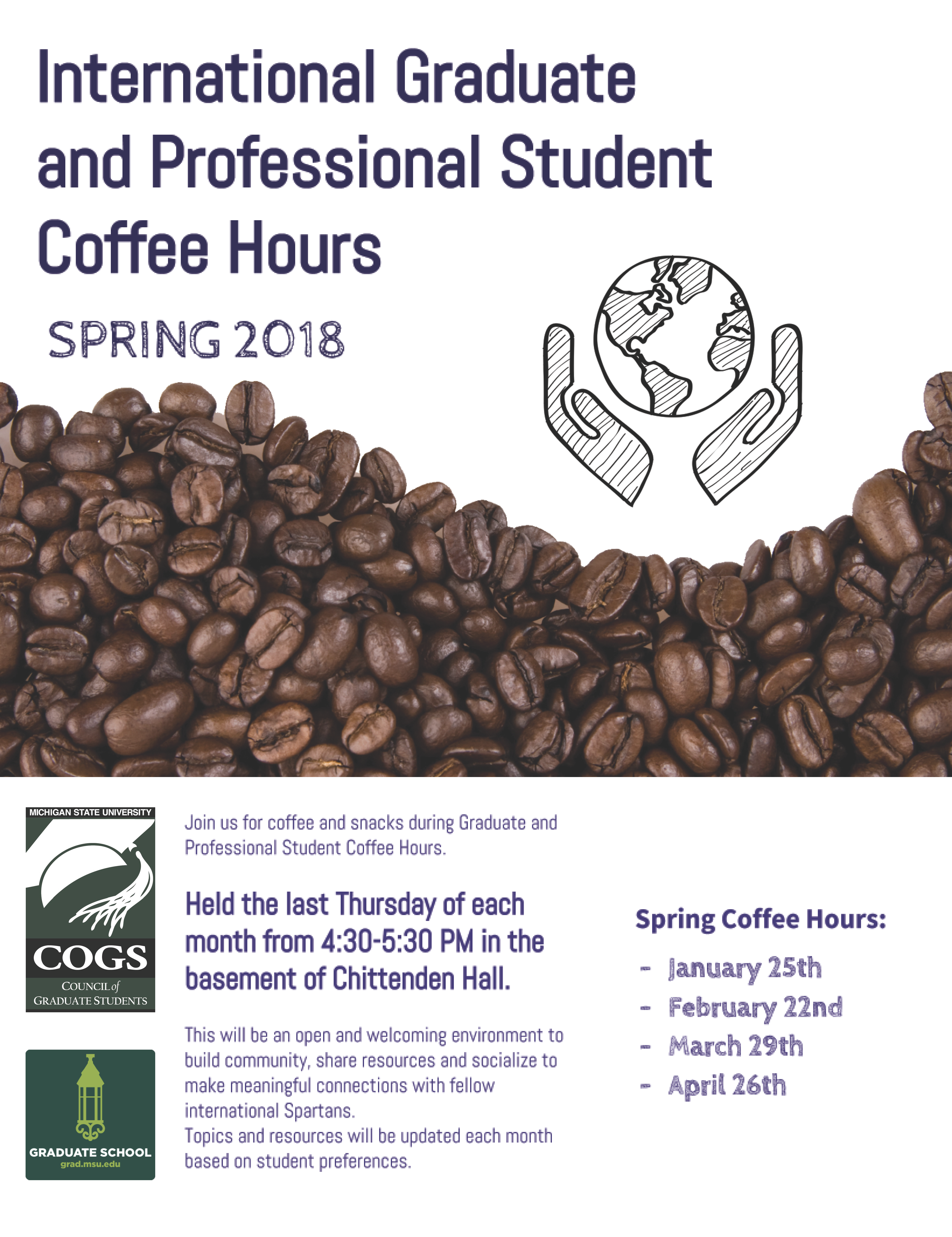 COGS Spring 2018 Coffee Hours