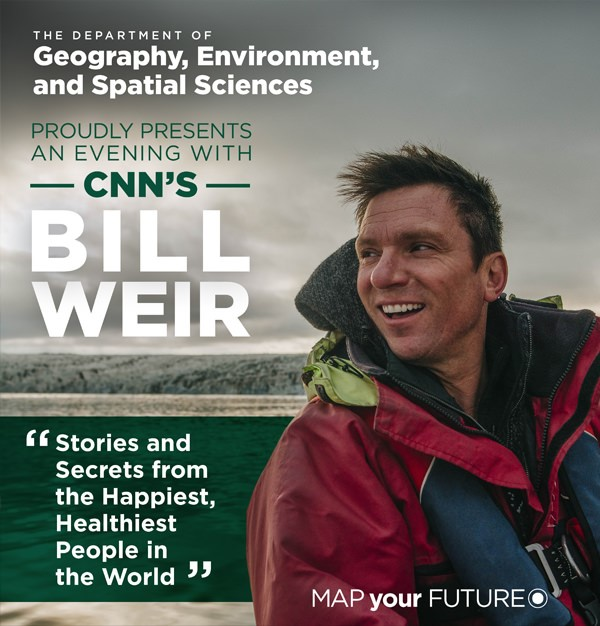 CNN's Bill Weir Lecture: Free and Open to the Public. November 15, 2018 at 7:00 PM. Wharton Center
