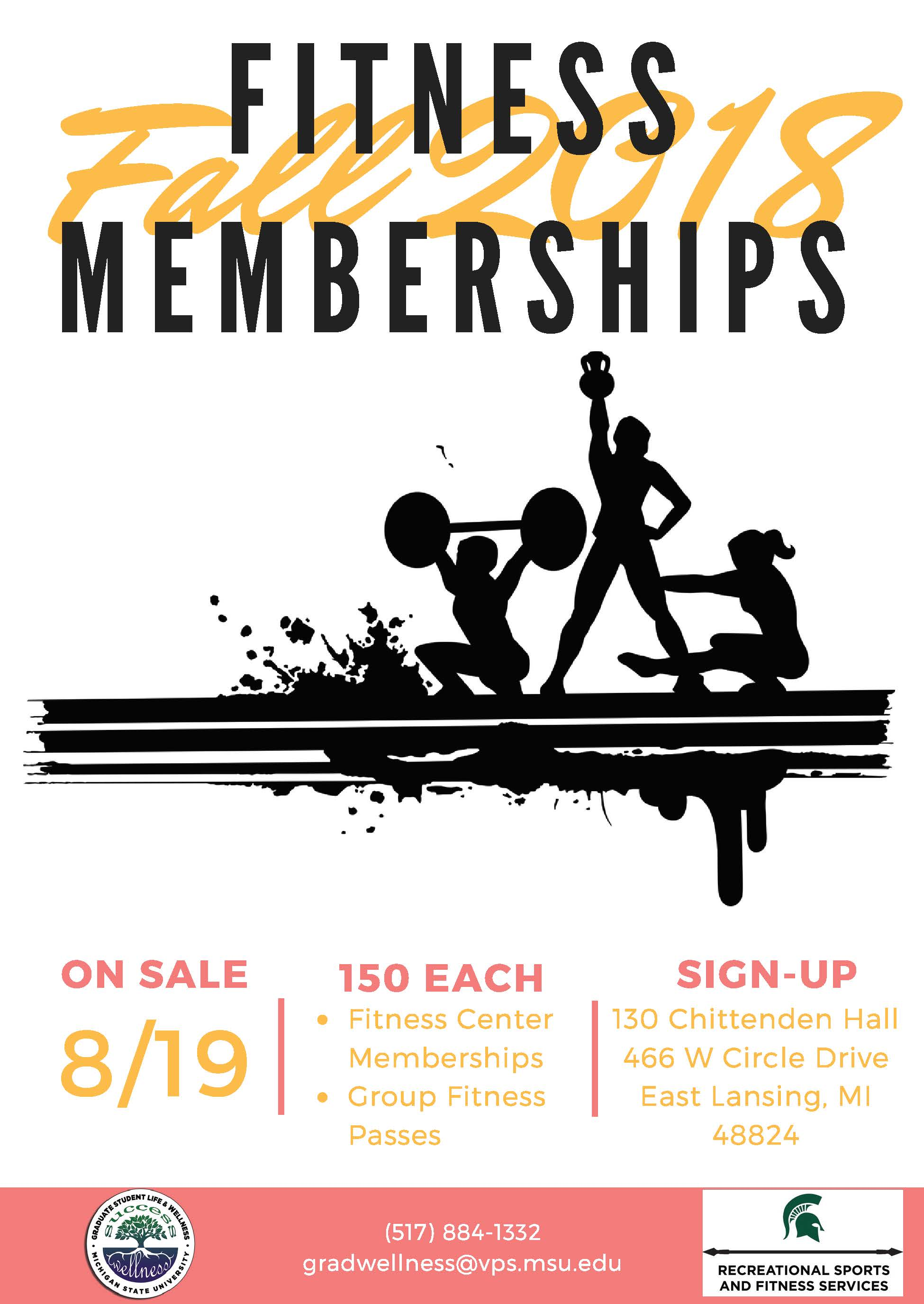 50% Off Fitness Center and Group Fitness Passes for Graduate Students