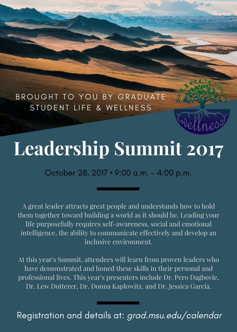Leadership Summit save the date for October 28, 2017