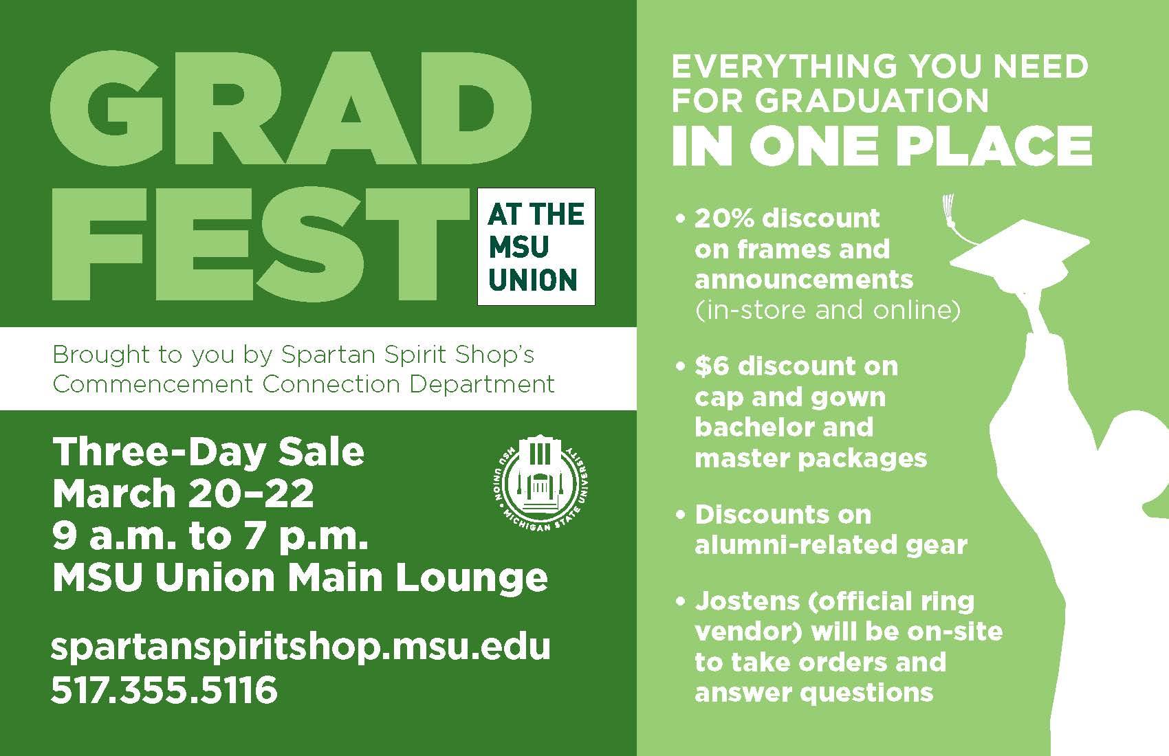 Grad Fest at the MSU Union March 20-22 | The Graduate School