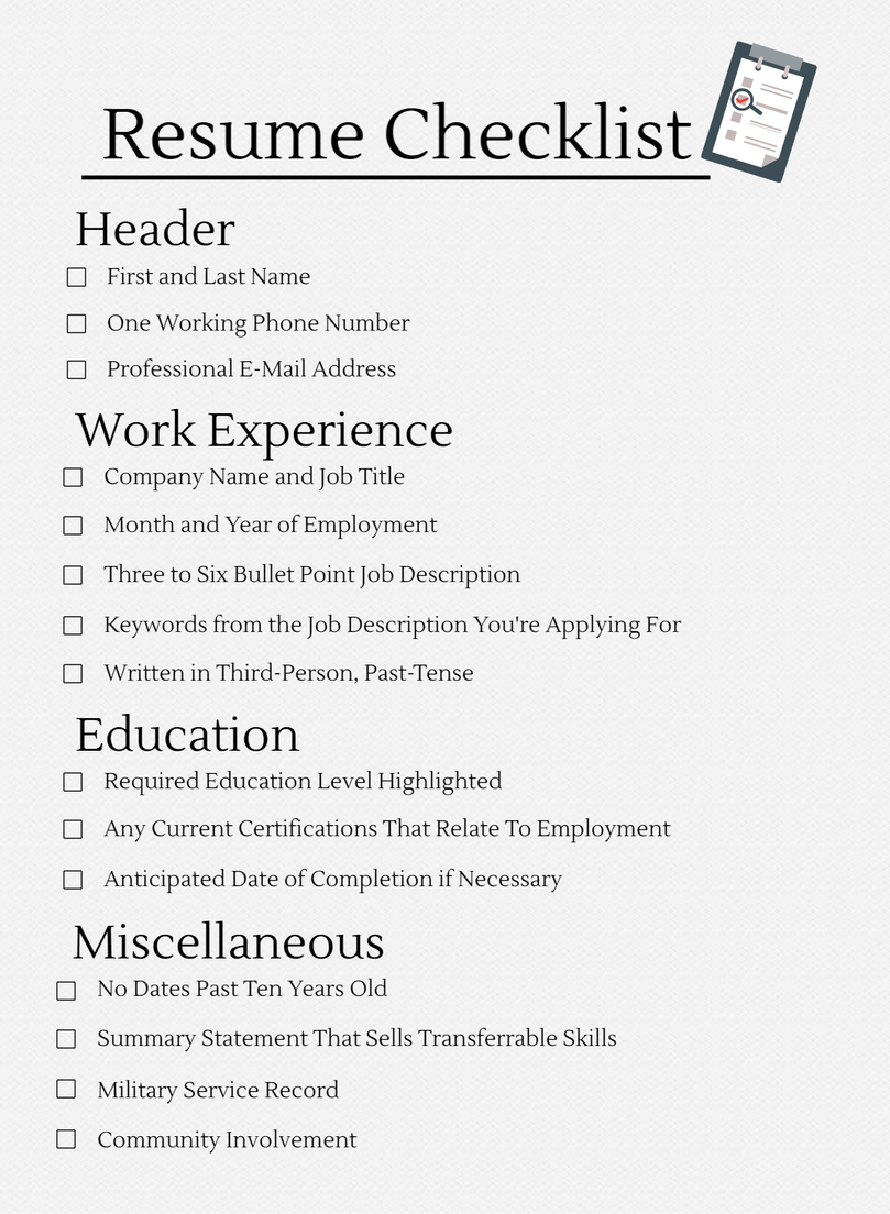resume formatting essentials