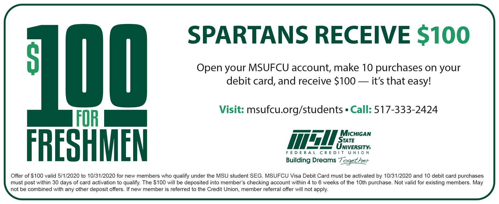$100 for students. click for more details