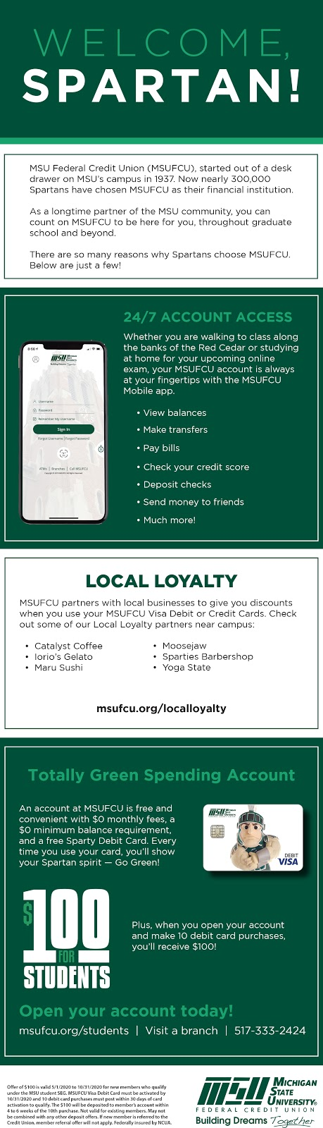 Click here to go to the MSUFCU website and learn more!