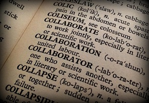 "image of the word ""collaboration"" in a dictionary"