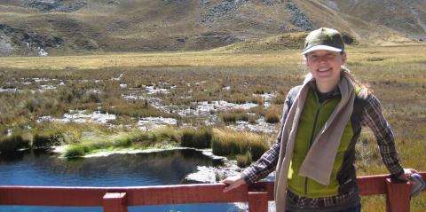 Dr. Kalman in the Huascarán National Park.